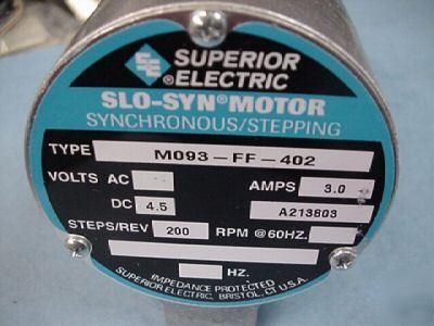 New Superior Electric Stepper Motor M093 Ff 402