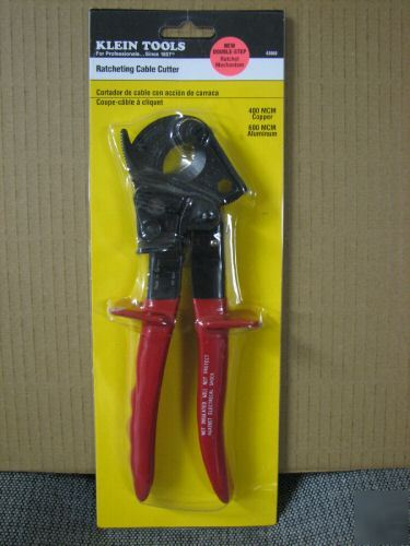 New Klein 63060 Ratcheting Cable Cutter Dbl Step
