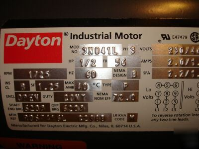 Dayton-industrial-motor-3N041L-never-used-picture-2 Dayton Industrial Motor Wiring on
