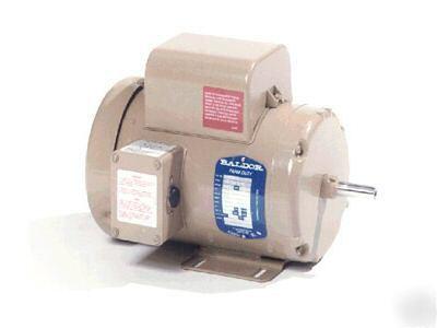 New 1 5 hp baldor tefc 1725 1 phase electric motor 145t for Baldor 1 5 hp single phase motor